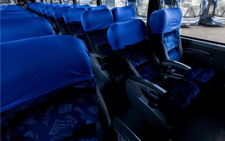 Poltronas do ônibus