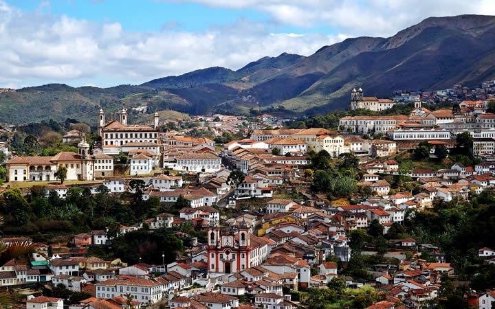 Cidade de Ouro Preto Vista Aérea