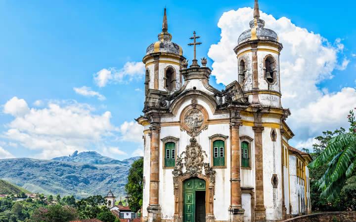 Igreja Ouro Preto MG - Lugares Românticos no Brasil