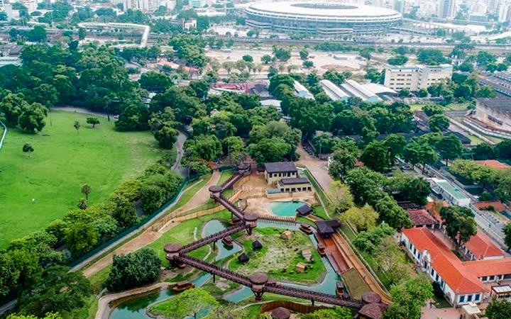 Vista aérea Bio Parque RJ