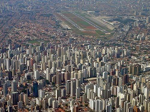 Vista Aérea do Aeroporto de Congonhas SP