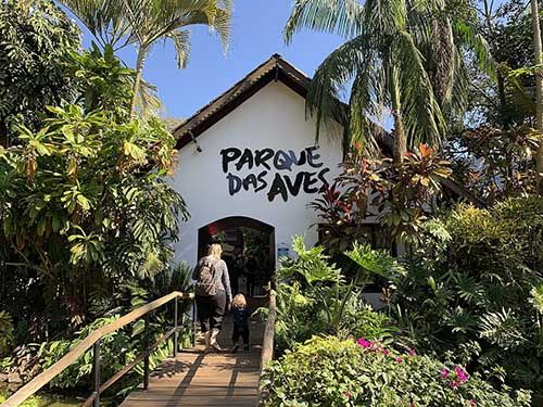 Entrada do Parque das Aves PR