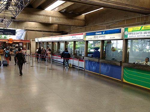 Guichês do Terminal Jabaquara SP